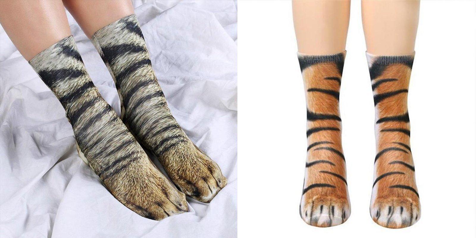 Animal Paw Socks