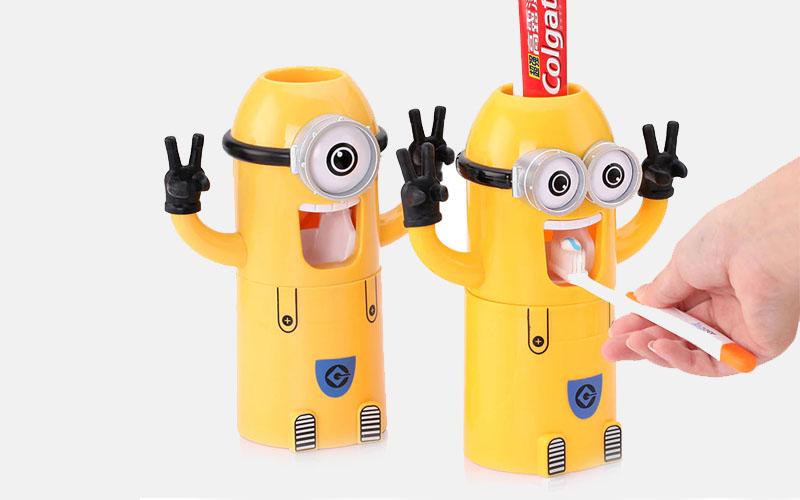 Banana toothpaste dispenser