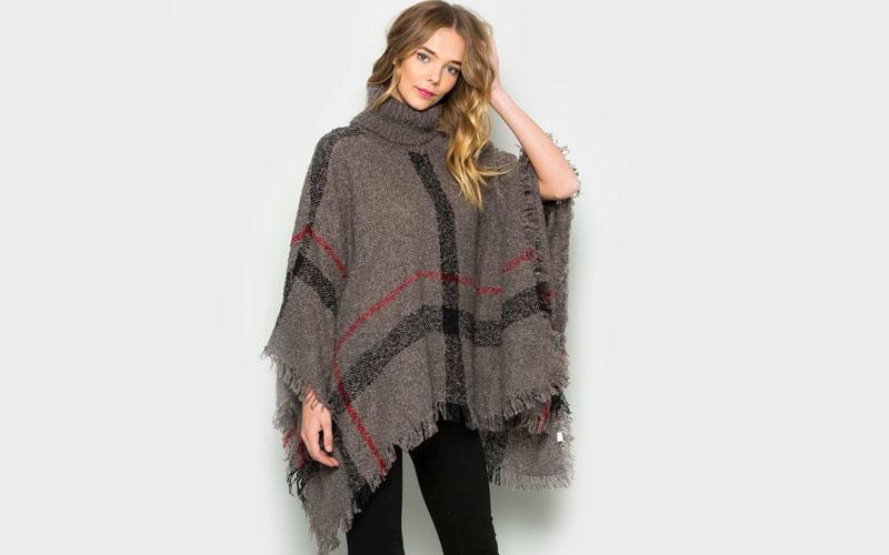 Warm Poncho Sweater