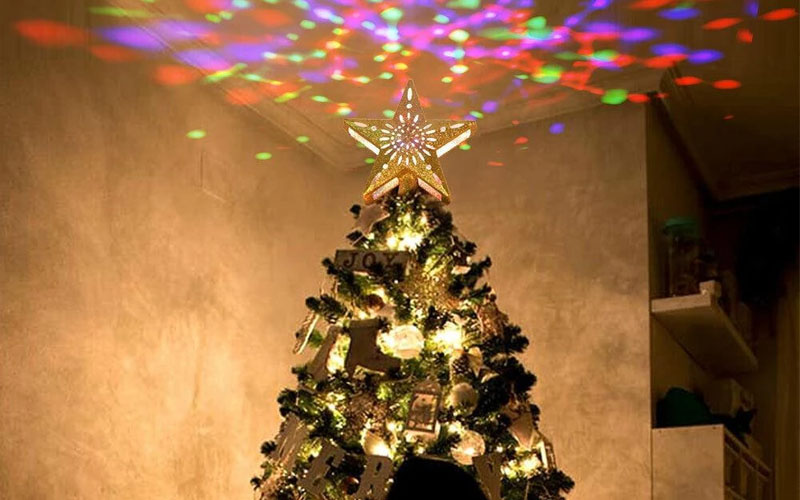 Dancing Christmas Tree Topper Projector