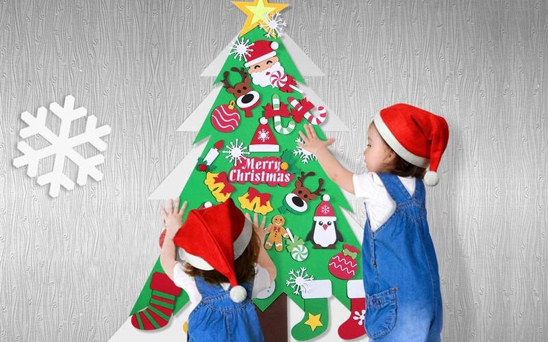 Decorate-yourself Christmas tree