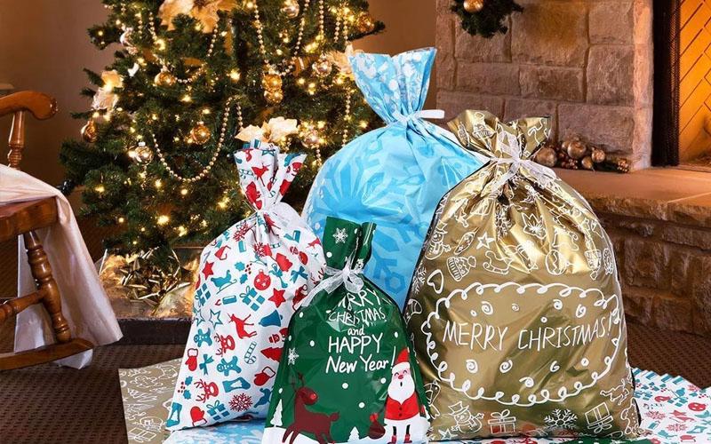 Drawstring Christmas Bags