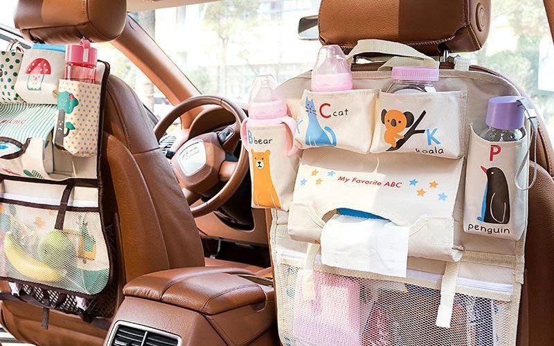 Kids Car Seat Storage Organizer