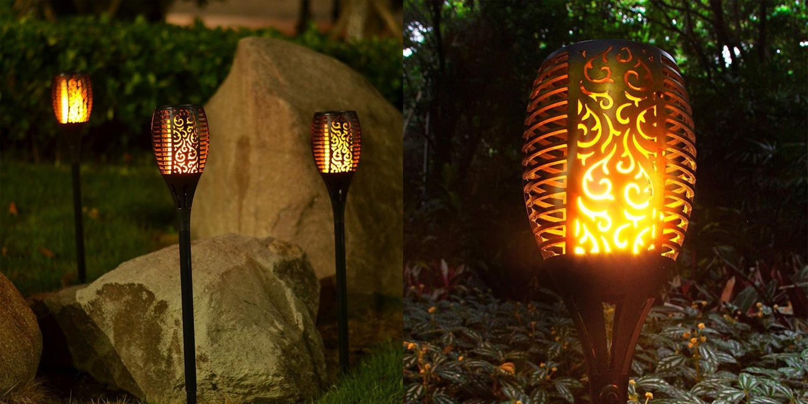Outdoor Solar Flame Light Torch