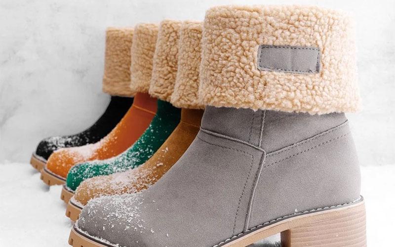 Block Heel Snow Boots