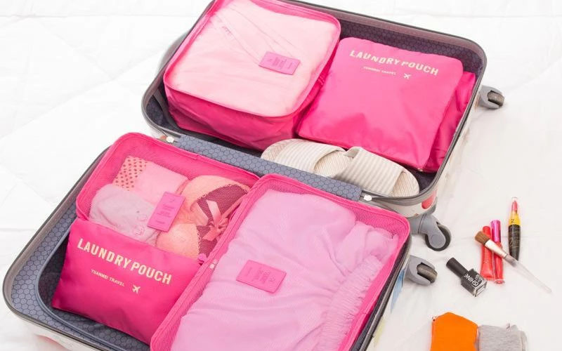Pack of 6 Organizer Bags For the Perfect Suitcase