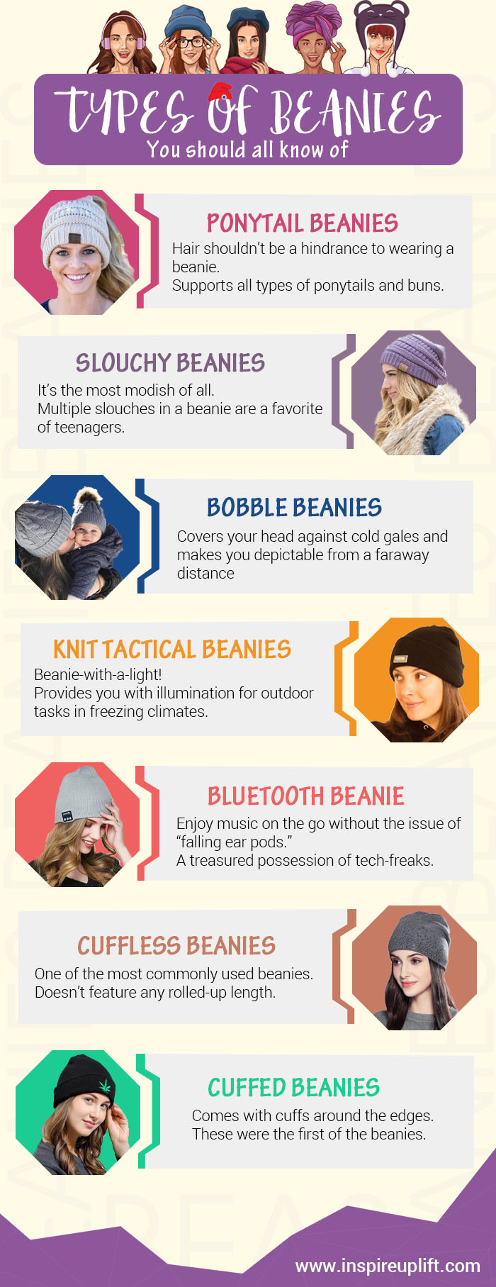 Types of beanies