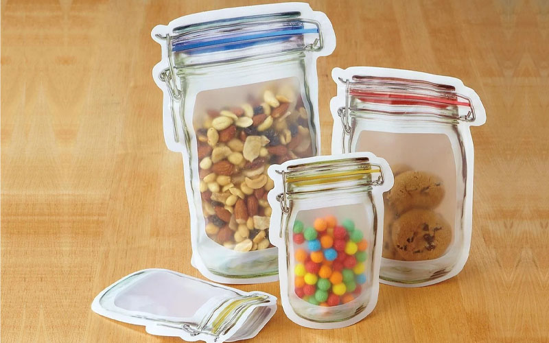 Pack of 10 Reusable Food Storage Bags
