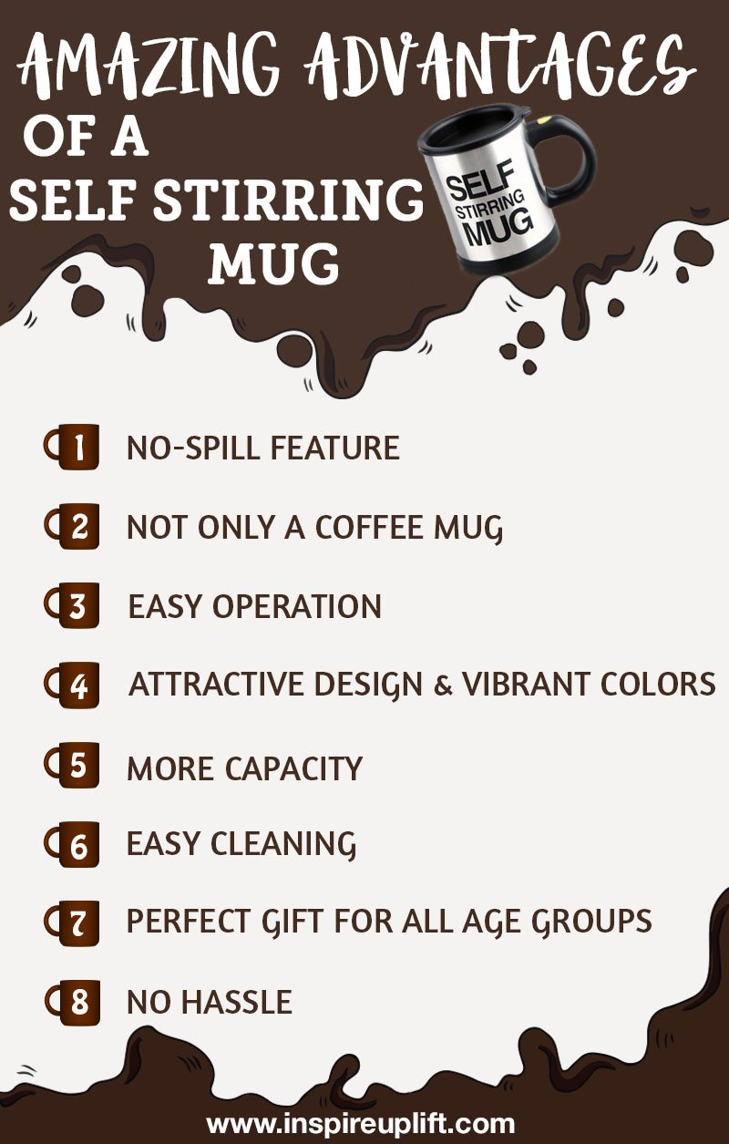 advantage of self stirring mug
