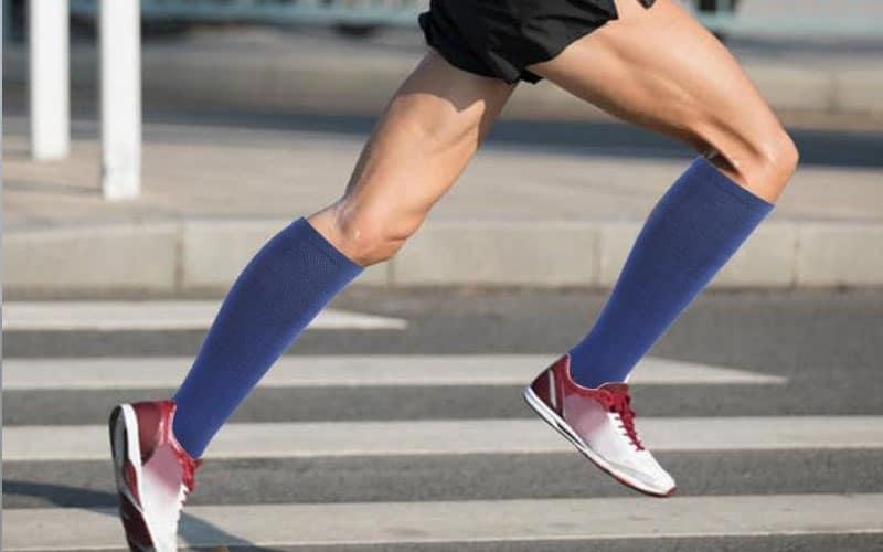 Calf-length socks