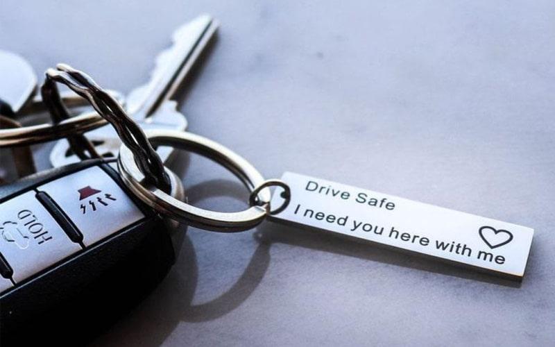 Drive Safe Keychain