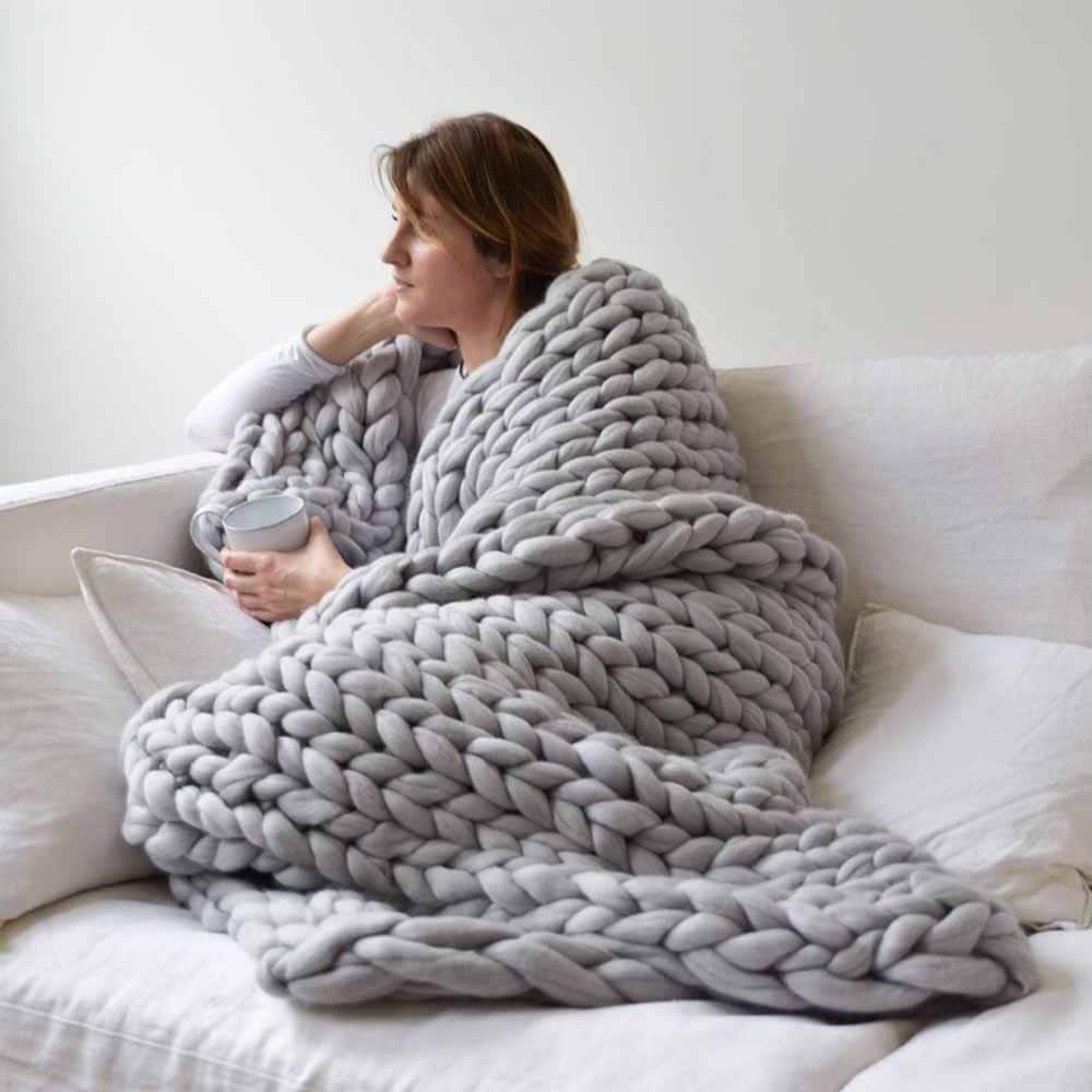 Handmade Chunky Knit Blanket