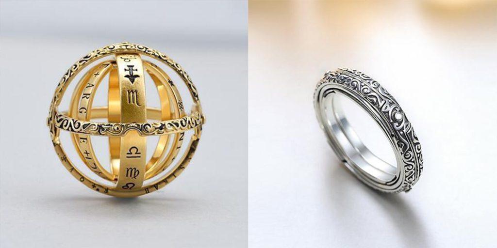 handmade sphere spinner ring