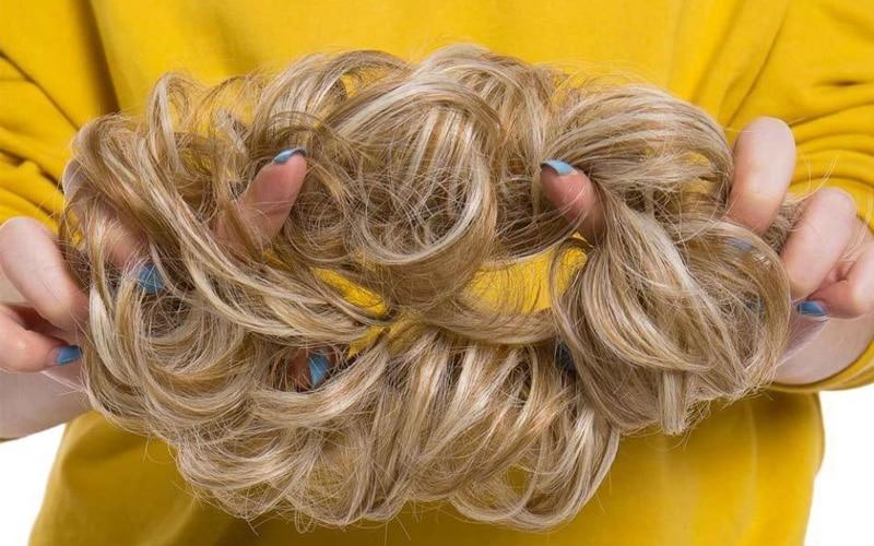 Rose Bun Hair Scrunchie