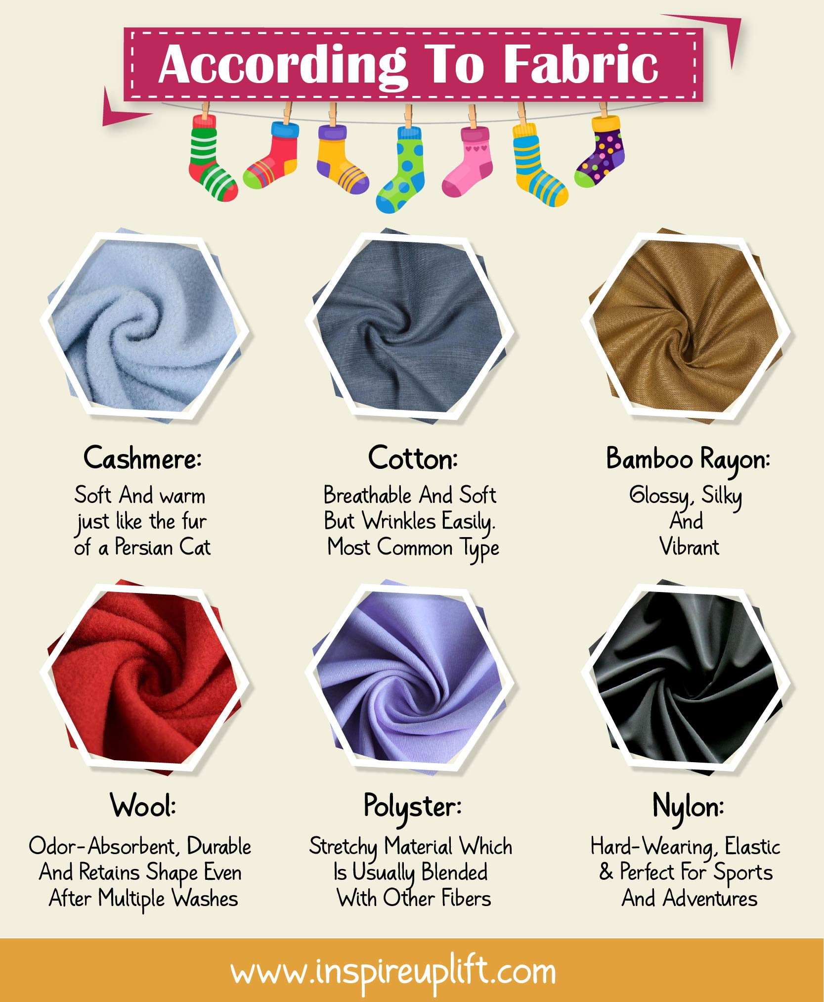 SOCK TYPES ACCORDING TO FABRIC