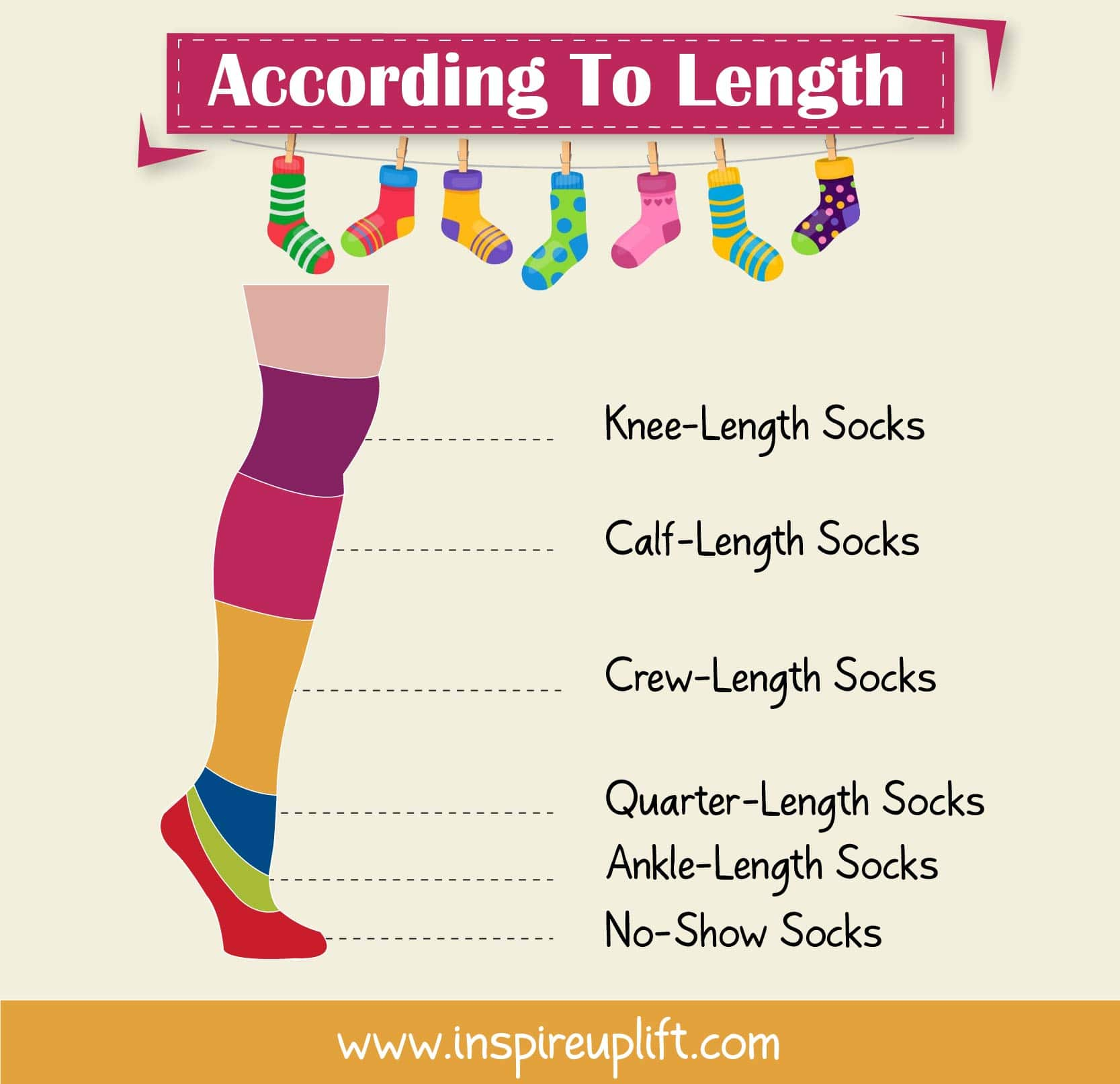 SOCK TYPES ACCORDING TO LENGTH