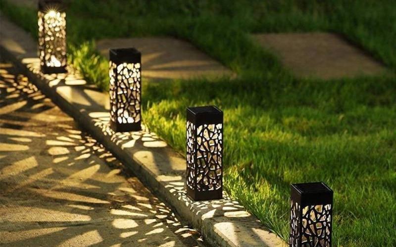 Solar Powered Moroccan Tower Lanterns