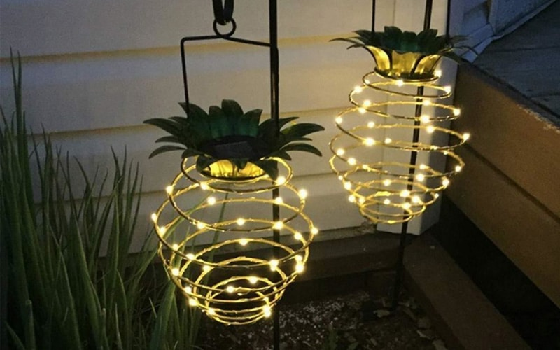 Solar Powered Pineapple Lantern