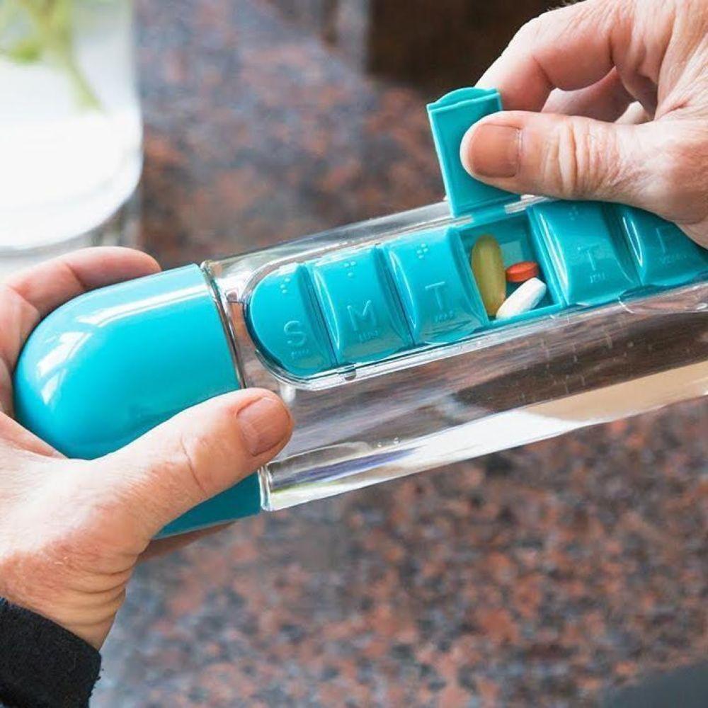 Vitamins Organizer Water Bottle