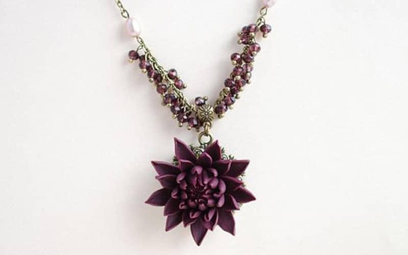 Balack dhalia flower in fashion and art