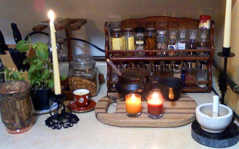 Kitchen Witch Altar