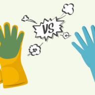 Dishwashing Gloves vs Scrub Gloves