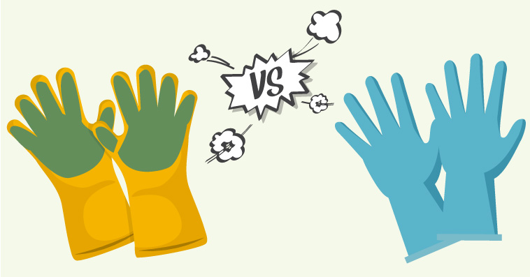 Dishwashing Gloves vs Scrub Gloves