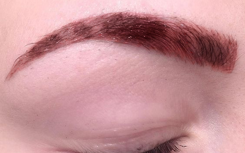 Microblading Skin wounded