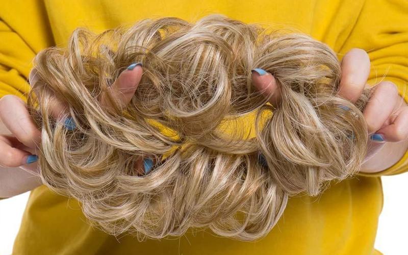 Scrunchie bun hair