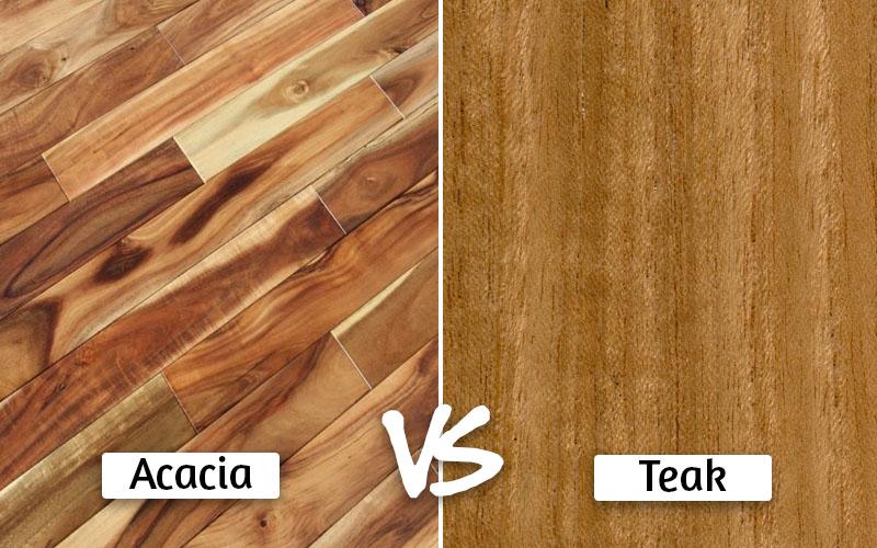 Acacia vs teak