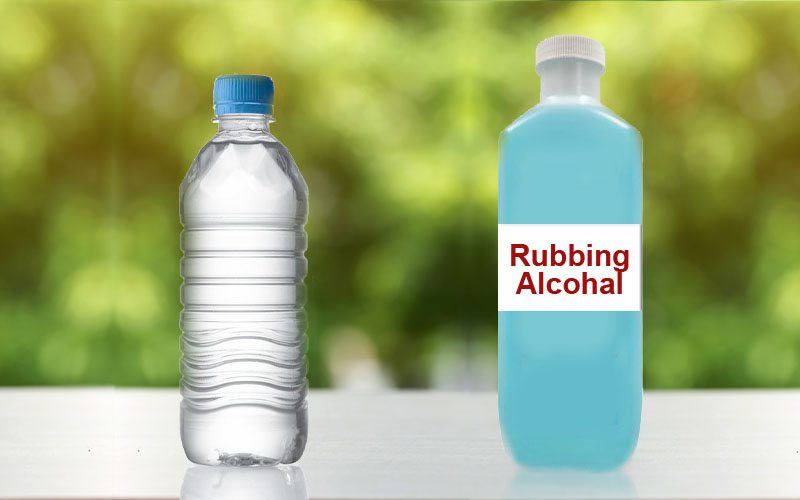 Recipe #4 – Rubbing Alcohol & Water