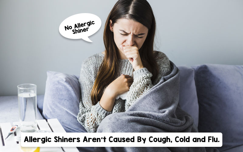shiners-How are allergic shiners different from cough, cold, and flu