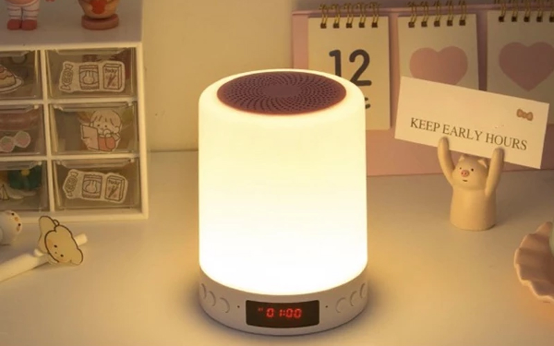 3-in-1 Bluetooth Touch Lamp Portable Speaker & Alarm