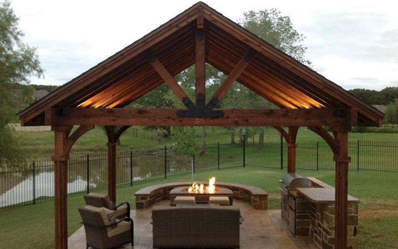 Backyard pavilion with Brazier