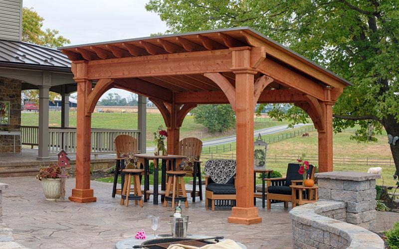 Square Roof Enriched Pavilion