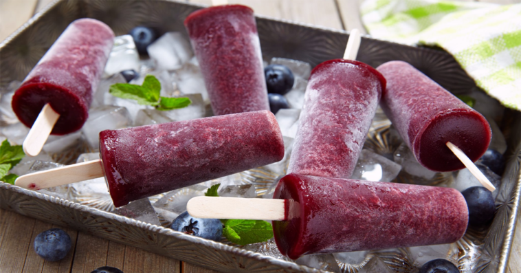 Sweet, Tart and Refreshing Elderberry Popsicles