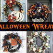 14 Halloween Wreaths for Front Door Ideas