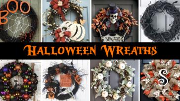 14 Halloween Wreaths for Front Door Ideas