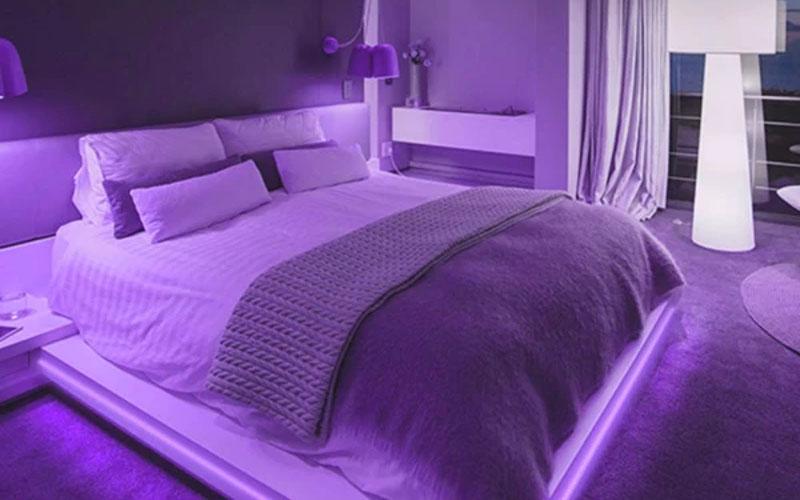 Black Light LED Strip, Purple Color