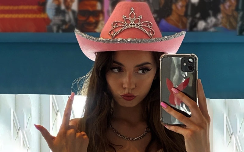 Fancy Rhinestone Pink Cowgirl Hat