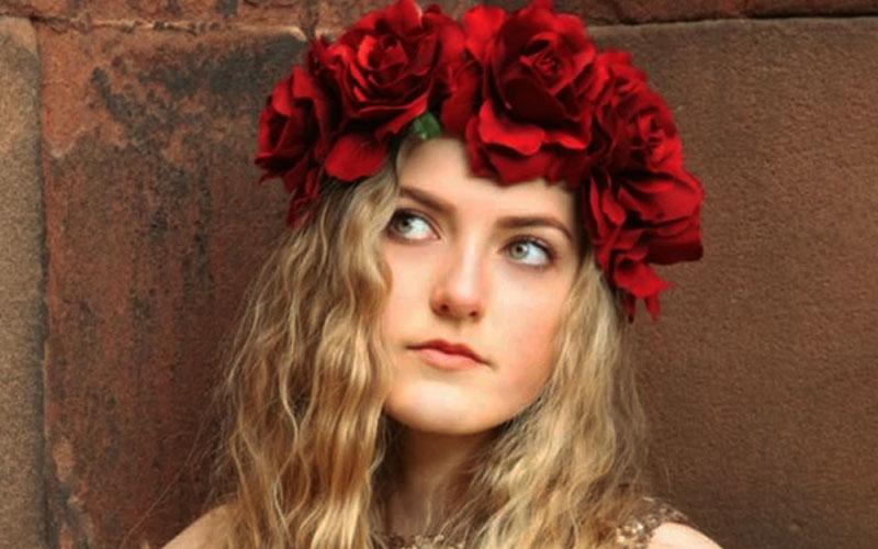 Floral Rose Headband Crown For Wedding & Halloween