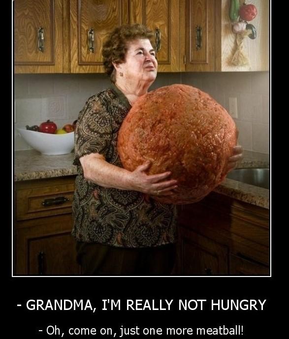 Grandma i am really not hungry