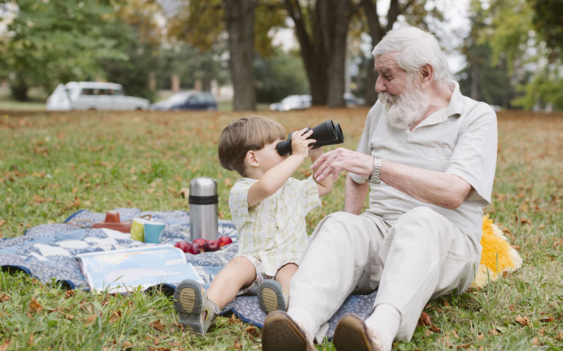 Grandparents like heroes are as necessary to a childs growth as vitamins