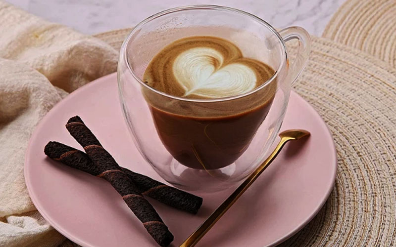 Heat Resistant Double Walled Love Heart Mug