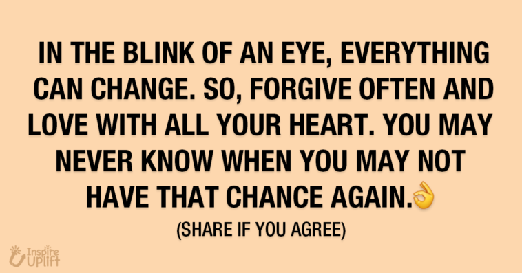 In the Blink of An Eye Everything