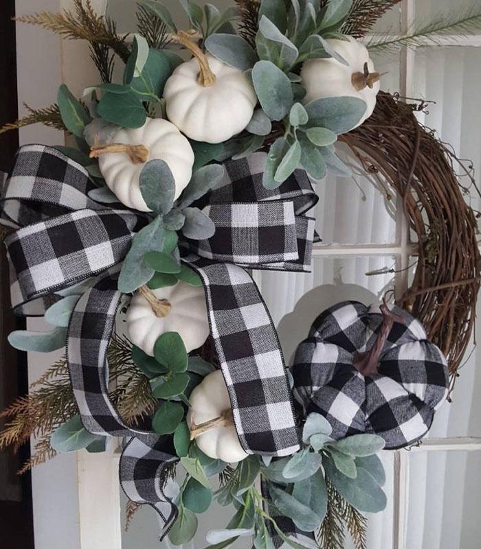 Little Cute Pumpkins Family Wreath