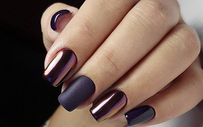 Metallic Mirrors for fall Nails