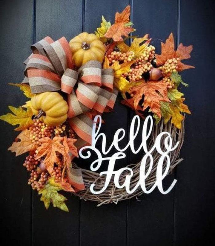 The Gorgeous Hello Fall Wreath