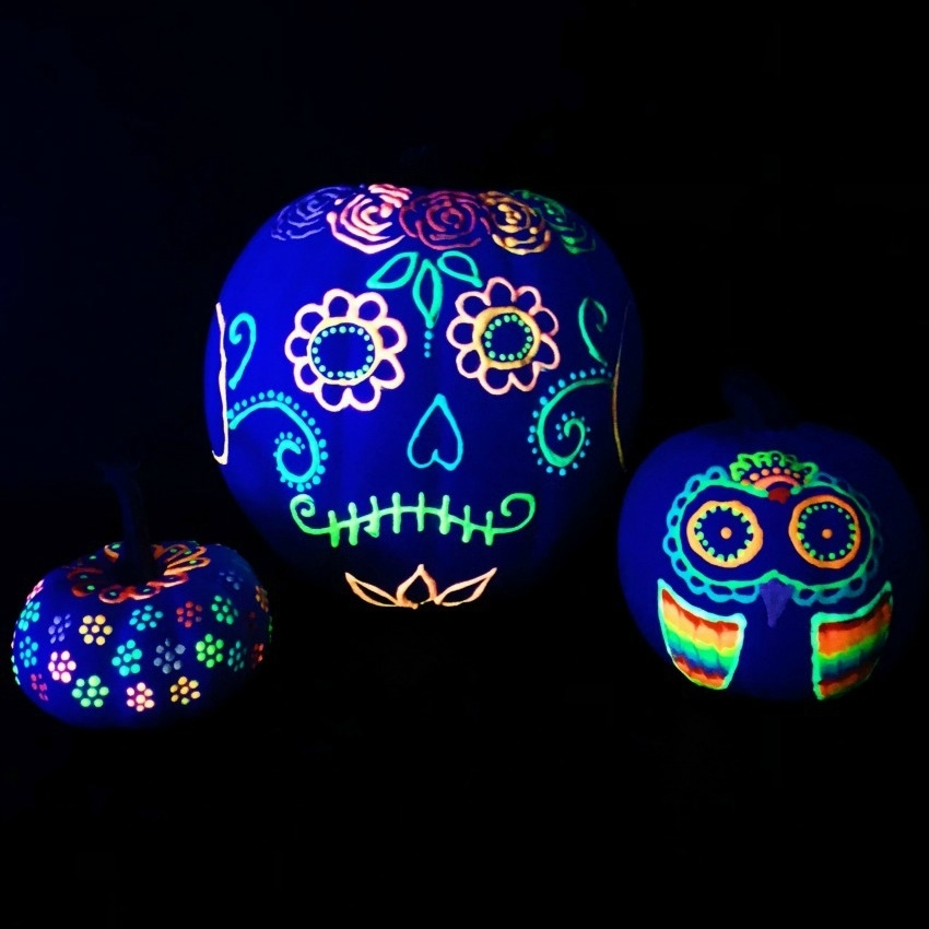 The glowing coco pumpkins