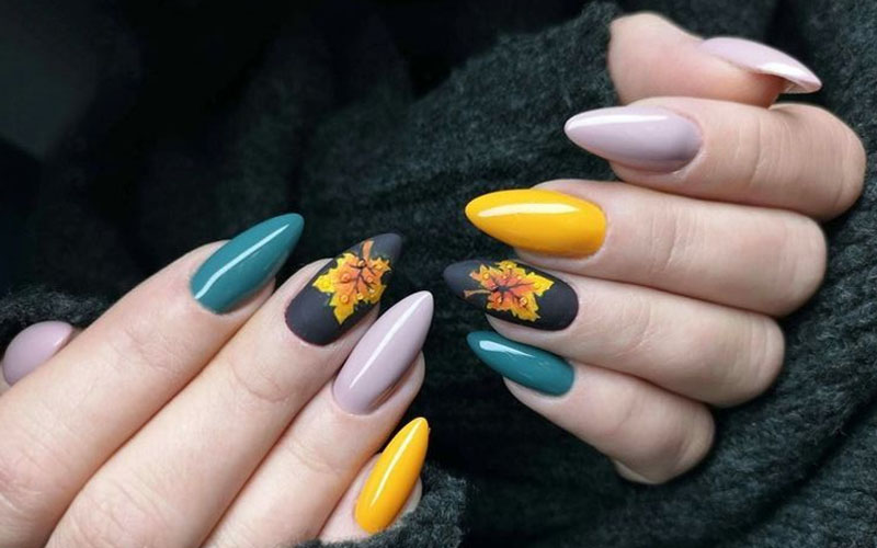 Withering Fall Nail Art 2020